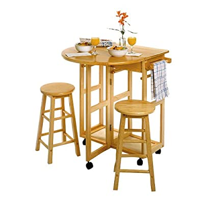 Breakfast Cart with 2 Stools