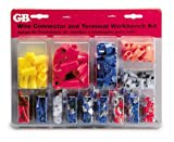 Gardner Bender TK-500 Slide Card Electrical Assorted Wire Connector/Terminal Kit, Includes: Screw-on connectors, nylon pigtail connectors, ring and spade terminals, butt and tap splices, male and female disconnects, 22-10 AWG, 247-Piece