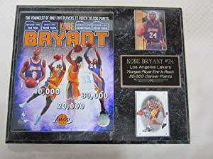 Kobe Bryant Los Angeles Lakers 2 Card Collector Plaque w 8x10 Commemorative Photo... by J & C Baseball Clubhouse