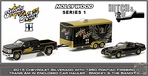 greenlight-1-64-hollywood-hitch-tow-smokey-and-the-bandit-1980-pontiac-trans-am-2015-chevrolet-silve