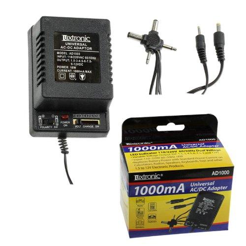 Universal Ac/Dc Adapter - 1000Ma - Led Indicator