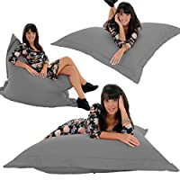 RAVIOLI GIANT - GREY Bean Bag Chair Indoor / Outdoor Beanbag Floor Cushion by Gilda Ltd