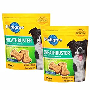 Pedigree Breathbuster Biscuit Treats for Dogs 22.9 oz (Pack of 2)