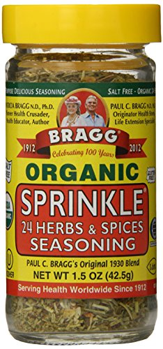 Bragg Organic Seasoning, Sprinkle (24 Herbs & Spices), 1.5 Ounce