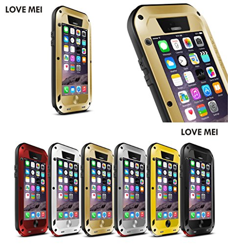 JUVENAiphone6 /plus専用保護ケース 耐衝撃、防塵、防水 強化ガラス (iPhone6 (4.7), ゴールド)
