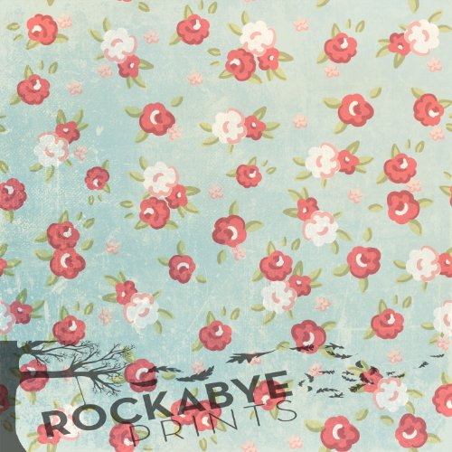 Photography Backdrop / Floordrop - 5Ft X 5Ft Shabby Chic Flowers - Durable Vinyl Backgroud front-976869