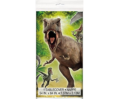 "Cheapest Prices! Jurassic World Plastic Tablecloth, 84"" x 54"""