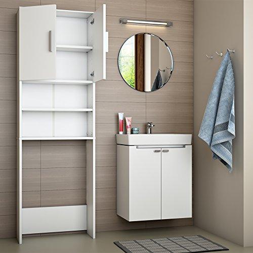 preisvergleich badregal hochschrank waschmaschine bad schrank willbilliger. Black Bedroom Furniture Sets. Home Design Ideas