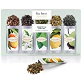 Tea Forté Green Tea Assortment SINGLE STEEPS Loose Leaf Tea Sampler, 15 Single Serve Pouches