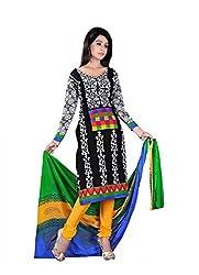 Krishna Present All New Design Of Black color Cotton Printed Dress, Salwar Ka...