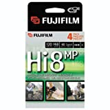 Fuji HI 8 MP P6-120 Camcorder Recordable Video Cassette Tapes (4-pack)