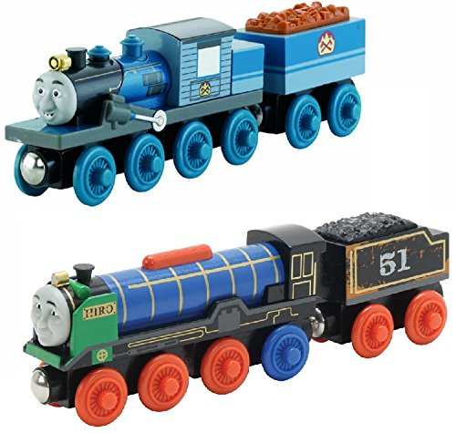 Fisher-Price Thomas the Train Wooden Railway Ferdinand AND Patchwork Hiro (Fish Bowl Toy Fisher Price compare prices)