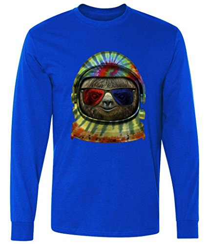 Long Sleeve: Sloth Astronaut 3D Glasses Shirt MLTTP2235617