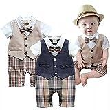 Bloomier 男の子 スーツ 子供服 ロンパーススーツ ベビー服 ロンパース 新生児 出産祝い 結婚式(80(1-2 歳), ネイビー) ランキングお取り寄せ