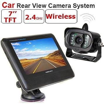 """BW ® sans fil caméra vue arrière de voiture avec 7 """"TFT LCD Monitor"""
