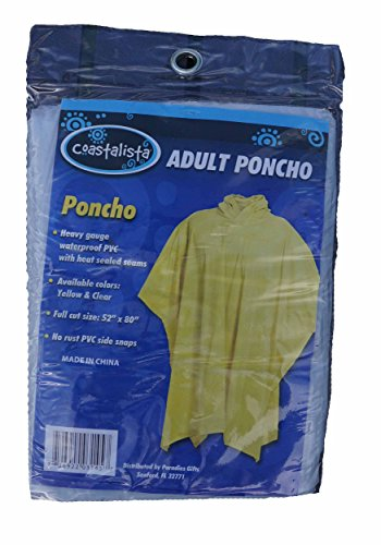 Poncho Rain Jacket Adult Size Clear