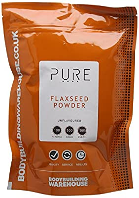Bodybuilding Warehouse 500 g Pure Ground Flaxseed Powder from Bodybuilding Warehouse