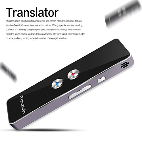 Portable Smart Voice Translator Two-Way Real Time Multi-Language Translation For Learning Travelling Business Meeting [+Peso($49.00 c/100gr)] (US.ME.59.99-0-B07D9G31NH.3)