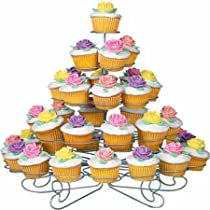 U.S. Cake Supply® Brand 41 Count Metal Cupcake Dessert Stand with 5 Tiers