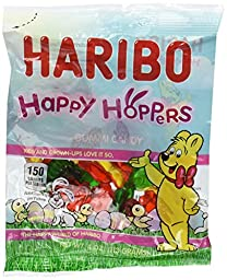 Haribo Happy Hoppers Gummy Candy 4oz (6-pack)