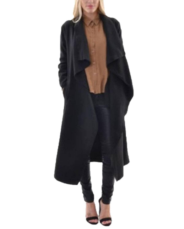 ZANZEA Damen Elegant Wasserfall Schnitt Übergangs Mantel Jacke Cape Tops Cardigan Mode kaufen