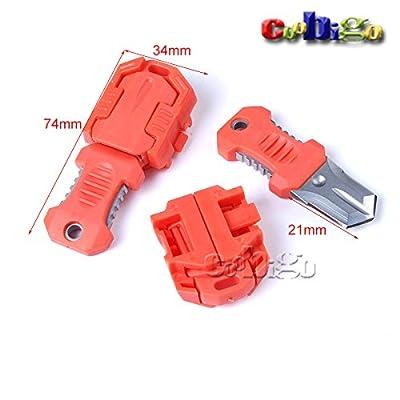 "Mini Multifunction EDC Knife Pocket Survival Tool MOLLE 1""Webbing Self Defense 1pcs from Coobigo"