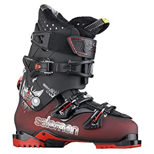 Salomon Quest Access 80 Ski Boots Dark Red Translucent/Black Sz 11-11.5 (29)