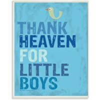 The Kids Room By Stupell Thank Heaven For Little Boys With Bird Rectangle Wall Plaque