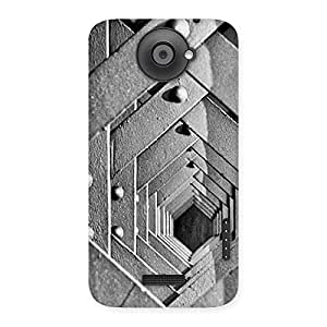 Delighted Block Cage Back Case Cover for HTC One X