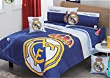 Real Madrid Comforter And Curtains Set 6 Piece Twin