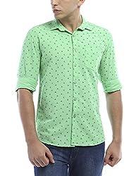 Vintage PremiumPista Grn Slim Fit Shirts