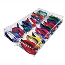 Clear,Under Bed Shoe Storage