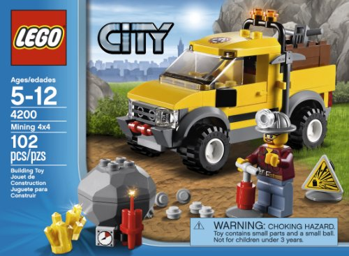 51Q8arzOYnL Cheap  LEGO City 4200 Mining 4x4
