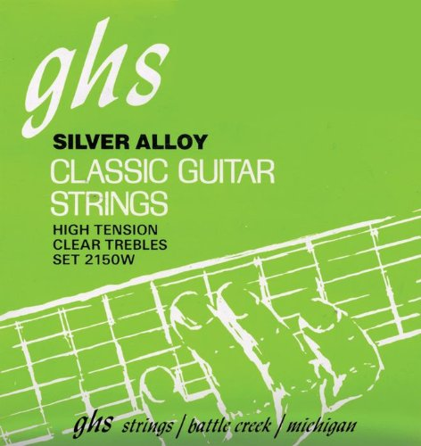 GHS Strings Classical Guitar Set (Clear Nylon, Silver Wound Strings, Tie End)
