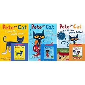 Pete the Cat Book and CD Pack (Book and CD) : Pete the Cat and His Four Groovy Buttons / Pete the Cat: I Love My White Shoes /Pete the Cat: Rocking in