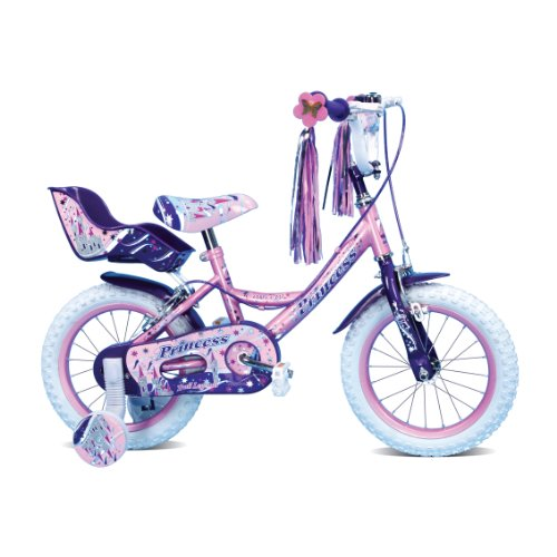 Beautiful Princess 16 Inch Deluxe Girls Bike with Stabilisers and Dolly Seat