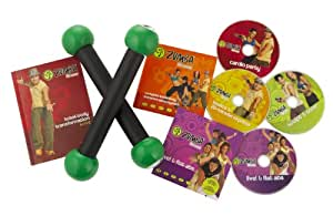Zumba Fitness DVD Exercise Kit includes toning sticks