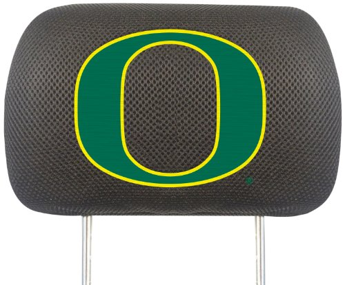 FANMATS NCAA University of Oregon Ducks Polyester Head Rest Cover (Oregon Ducks Car Seat Covers compare prices)
