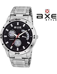 Axe Style Analog Black Dial Watch For Men- X1115SM01