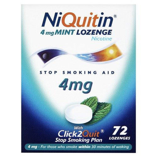 Niquitin Lozenges 4mg Mint - 72 Lozenges [Badartikel]