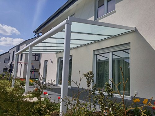 terrasse berdachung terrassendach classico s aus aluminium mit vsg glas klar 10 2 ral 9016. Black Bedroom Furniture Sets. Home Design Ideas