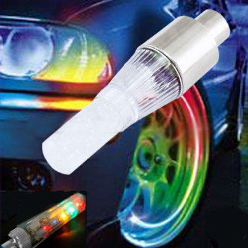 Vktech Car Bicycle Alarm Wheel Lights Lamp Led Tire Type