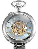 AMPM24 Mechanische Uhr Taschen Uhr Analog Taschenuhr Ketteuhr