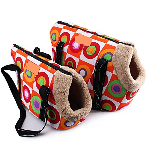 Komia Portable Pet Bag 2 Piece Soft for Puppy Dog Small Cat Pet Shoulder Carrier Bag