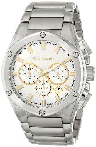 Vince Camuto  VC/1065SVSV - Reloj de cuarzo para hombre, con correa de acero inoxidable, color plateado