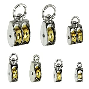 Premium Rope Pulleys - Choose from 7 Sizes & Styles - Single or Double Sheave - Taiwan Pulley size: 3/4 in. Swivel-eye