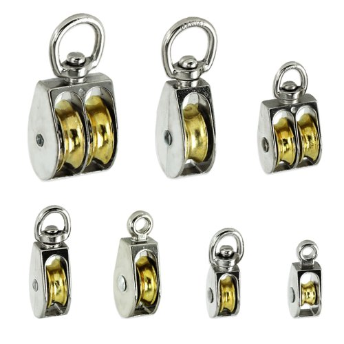Premium Rope Pulleys - Choose From 7 Sizes & Styles - Single Or Double Sheave - Taiwan front-684576