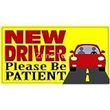 Zone Tech New Driver Please Be Patient Automotive Car Vinyl Magnet REFLECTIVE