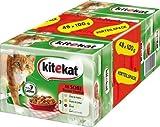 Kitekat Katzenfutter 48er Multipack Bunte Vierfalt (1 x 4,8 kg Packung)