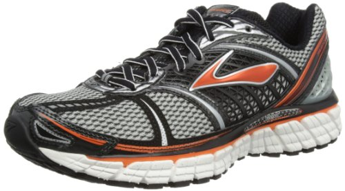 Brooks Mens Trance 12 M Running Shoes 1101301D150 Silver/Black/Red Orange/White/Pavement 10.5 UK, 45.5 EU, 11.5 US Regular